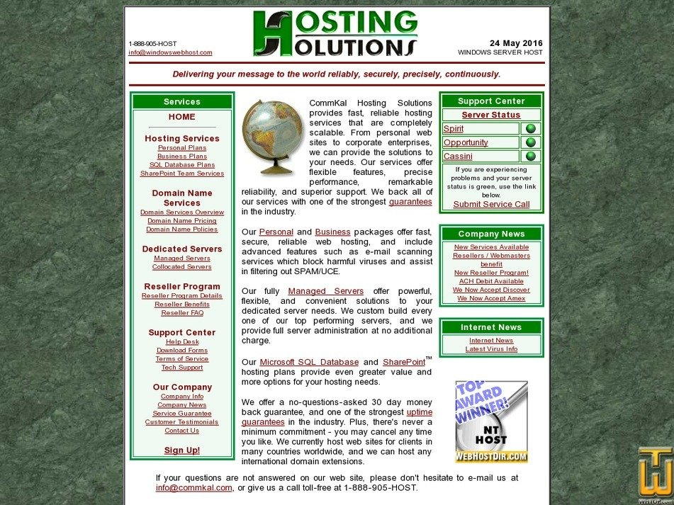 hostingsolutions.net Screenshot