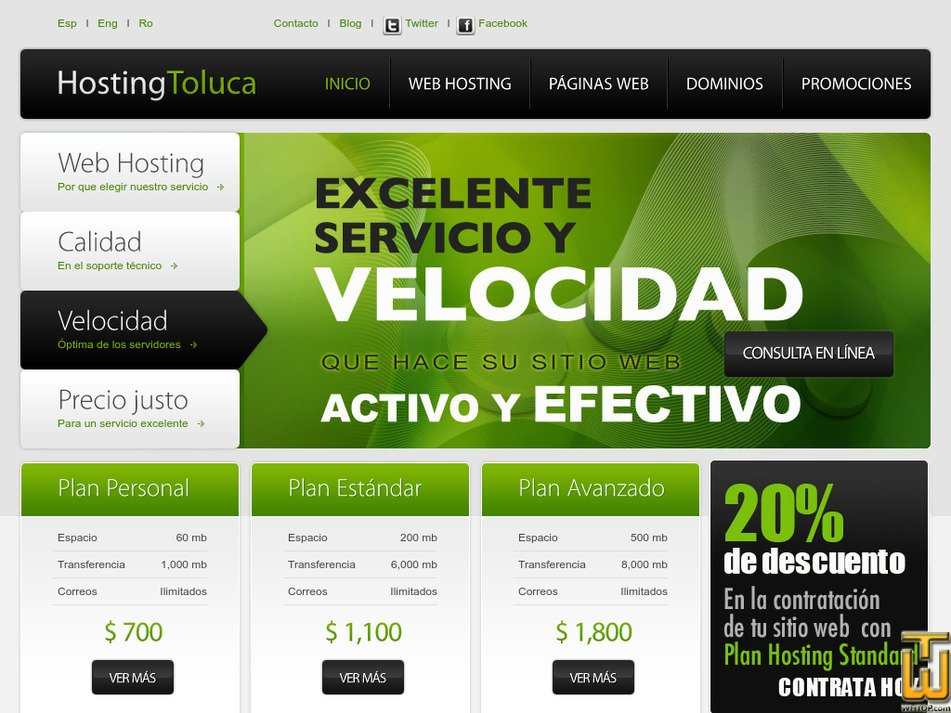 hostingtoluca.com Screenshot