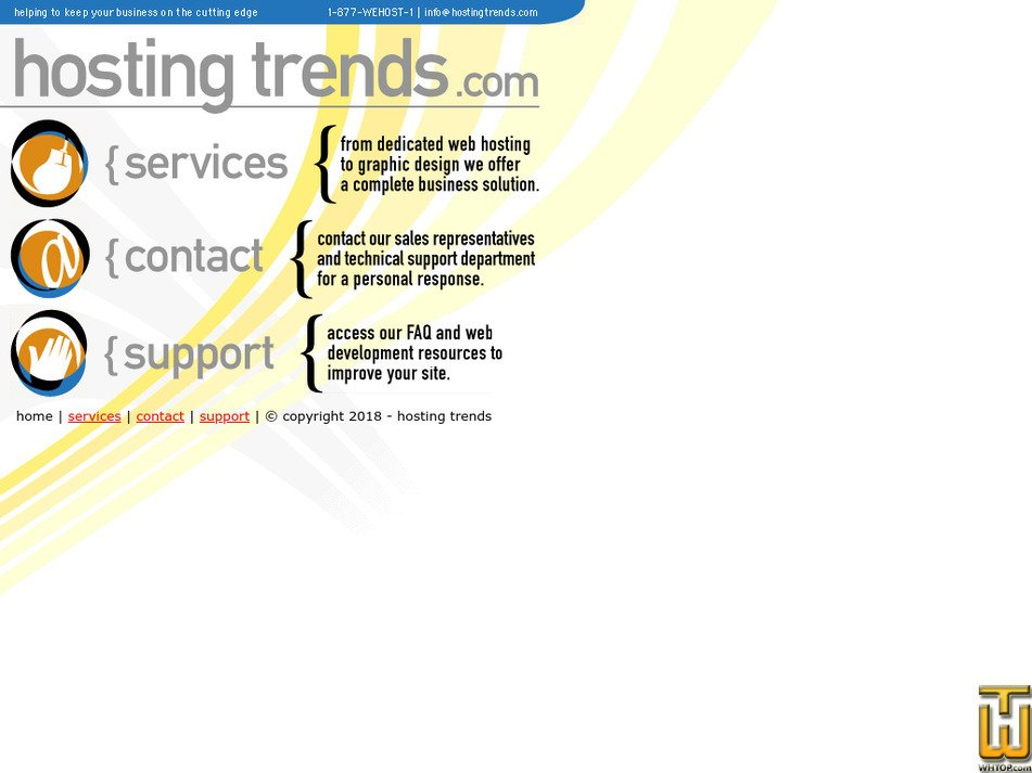 hostingtrends.com Screenshot