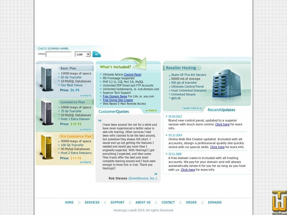 hostingu.com Screenshot