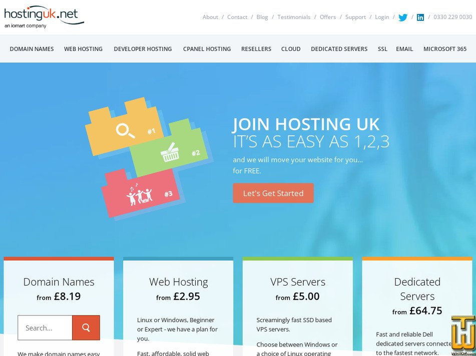 hostinguk.net Screenshot