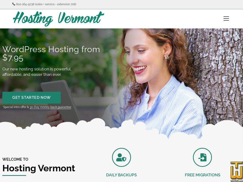 hostingvermont.com Screenshot
