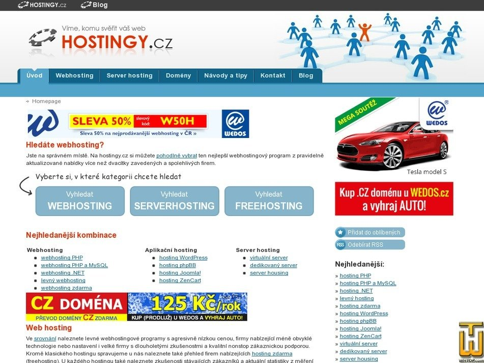 hostingy.cz Screenshot