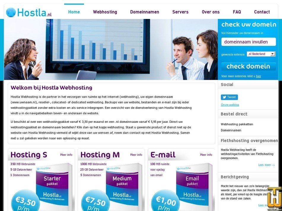 hostla.nl Screenshot