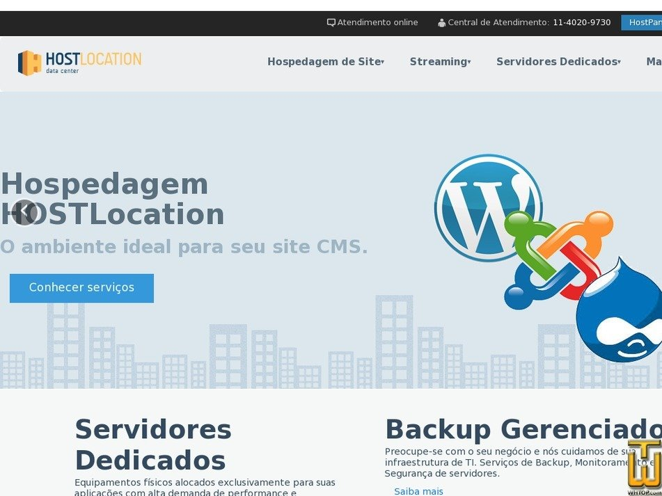 hostlocation.com.br Screenshot
