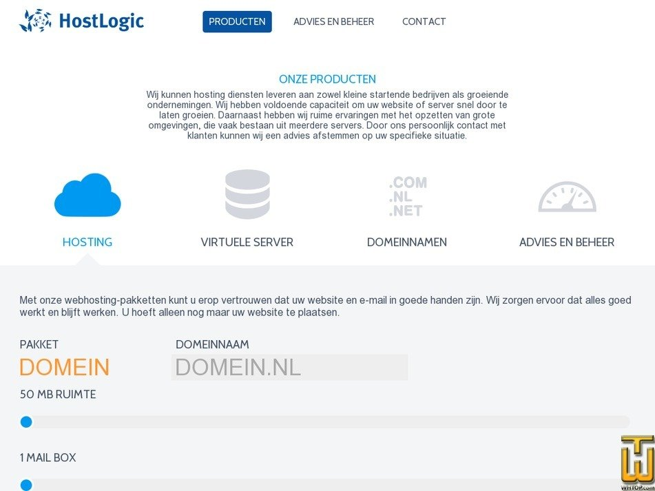 hostlogic.nl Screenshot