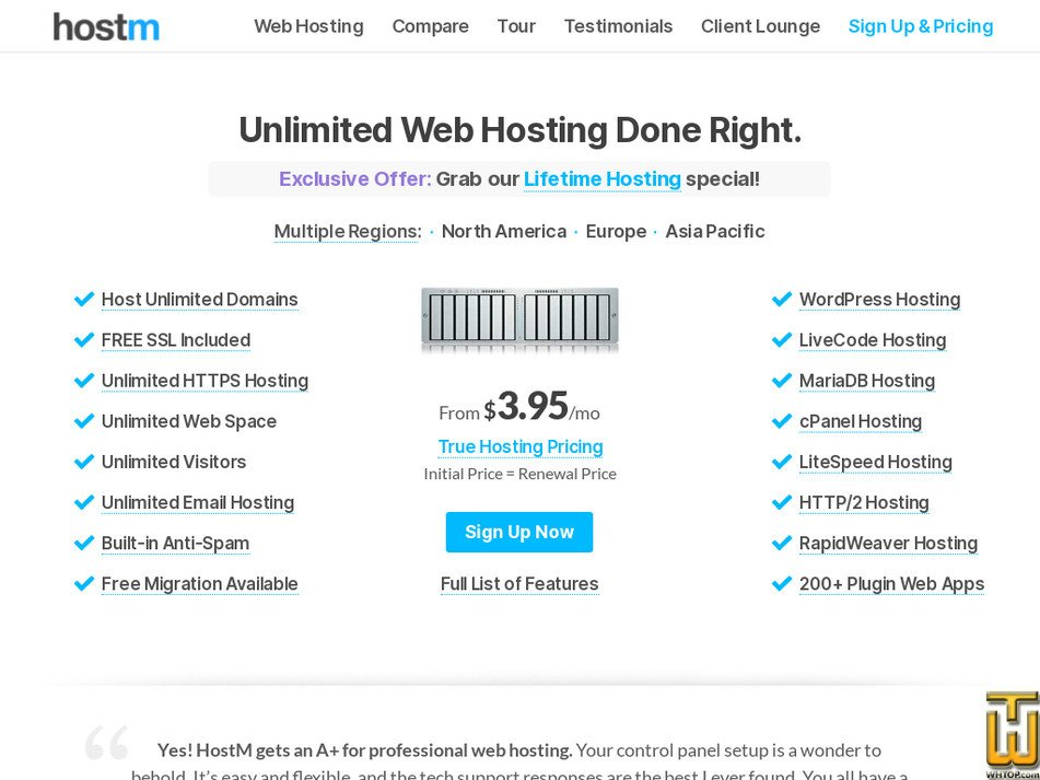 hostm.com Screenshot