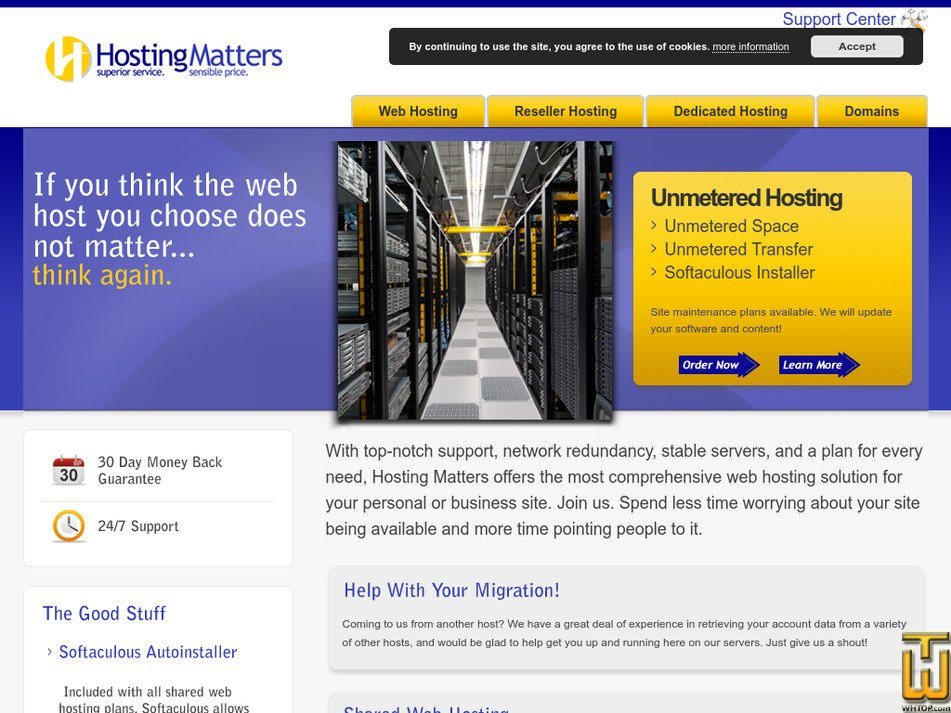 hostmatters.com Screenshot