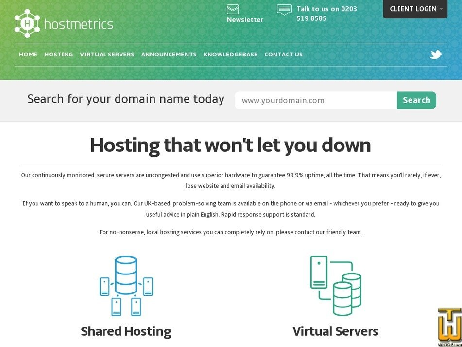 hostmetrics.net Screenshot