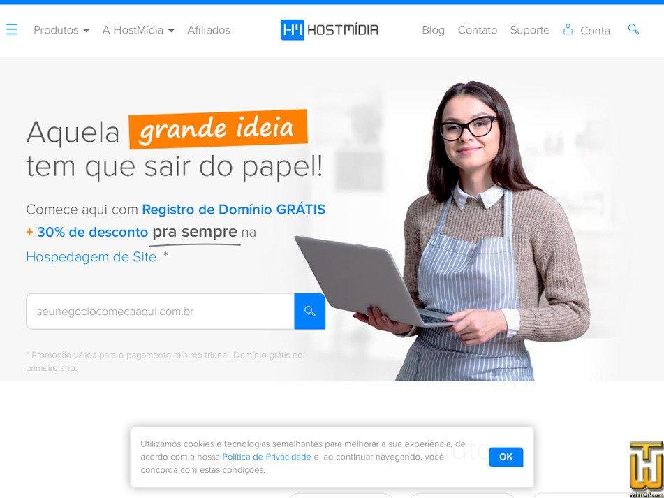 hostmidia.com.br Screenshot