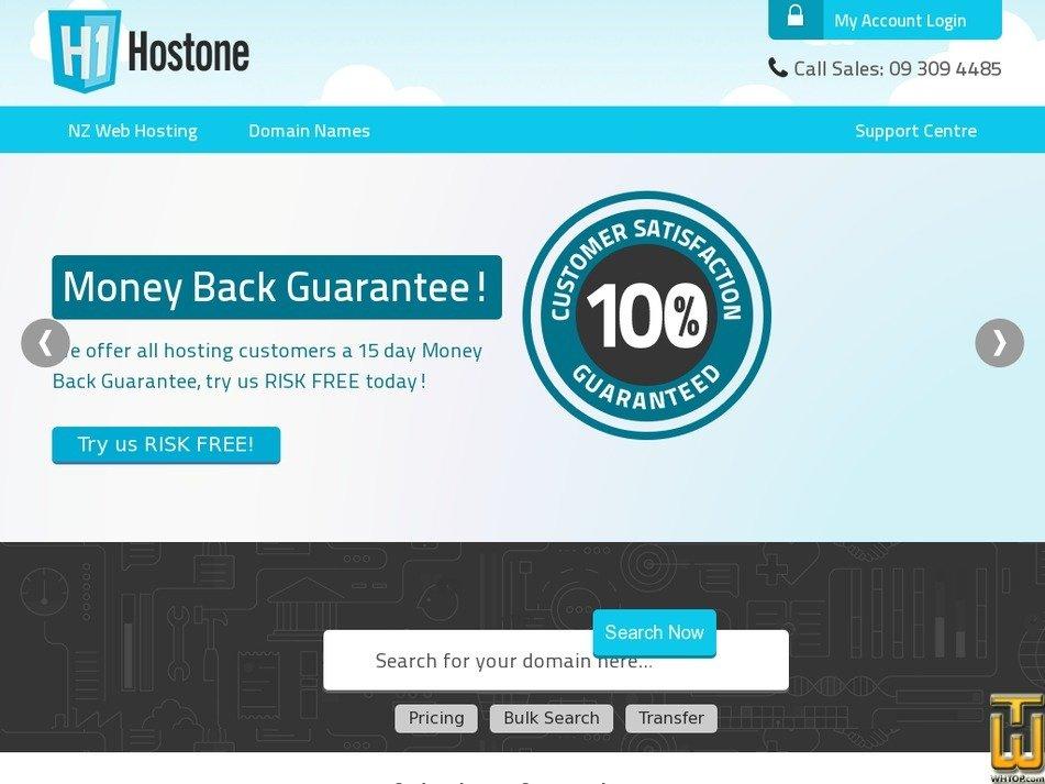 hostone.co.nz Screenshot