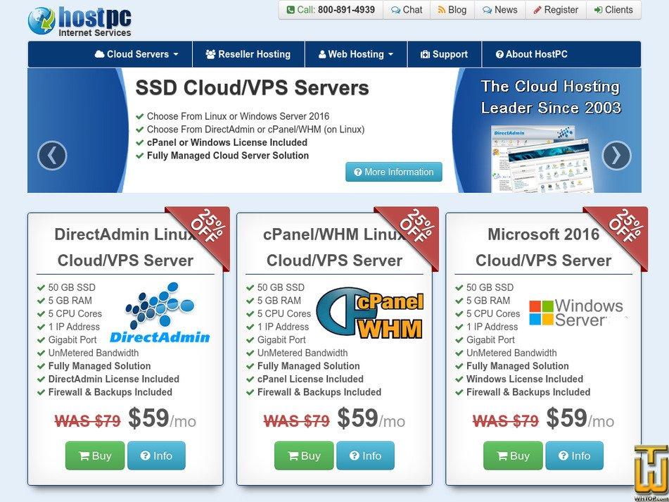 hostpc.com Screenshot