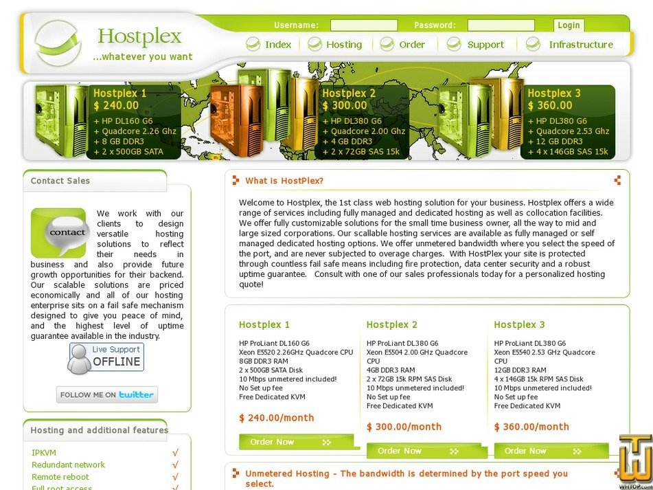 hostplex.net Screenshot