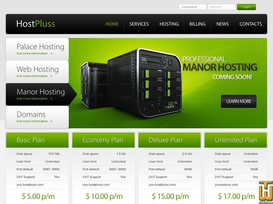 hostpluss.com Screenshot
