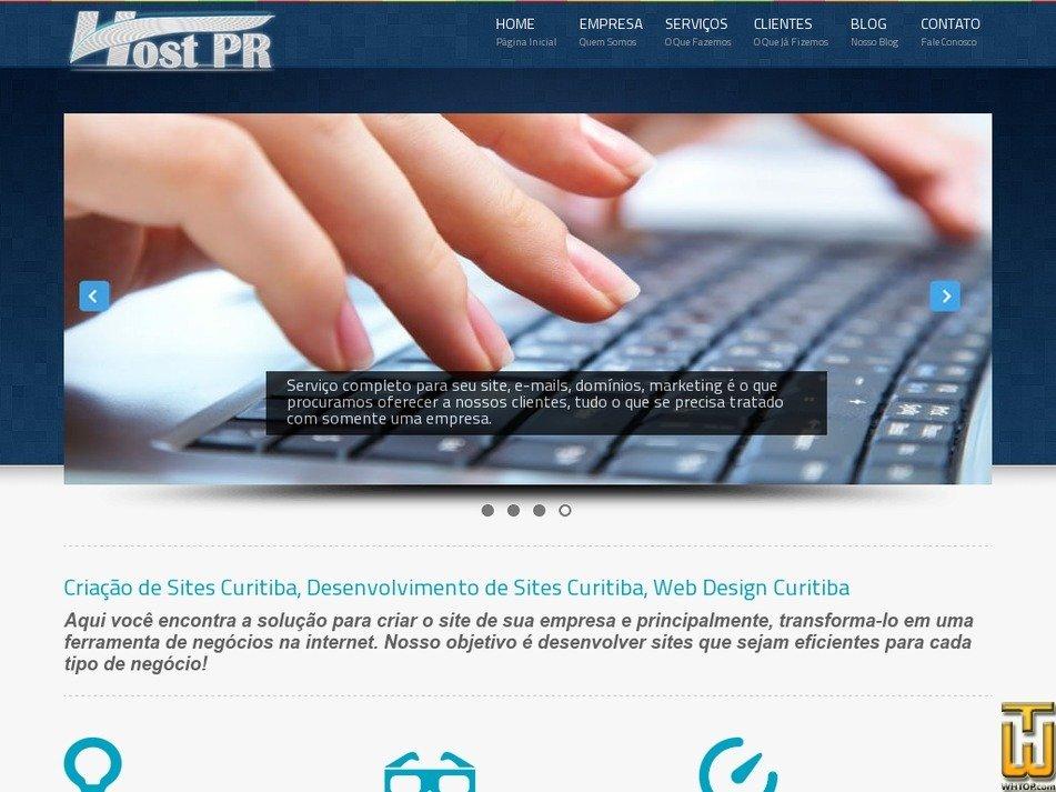 hostpr.com.br Screenshot