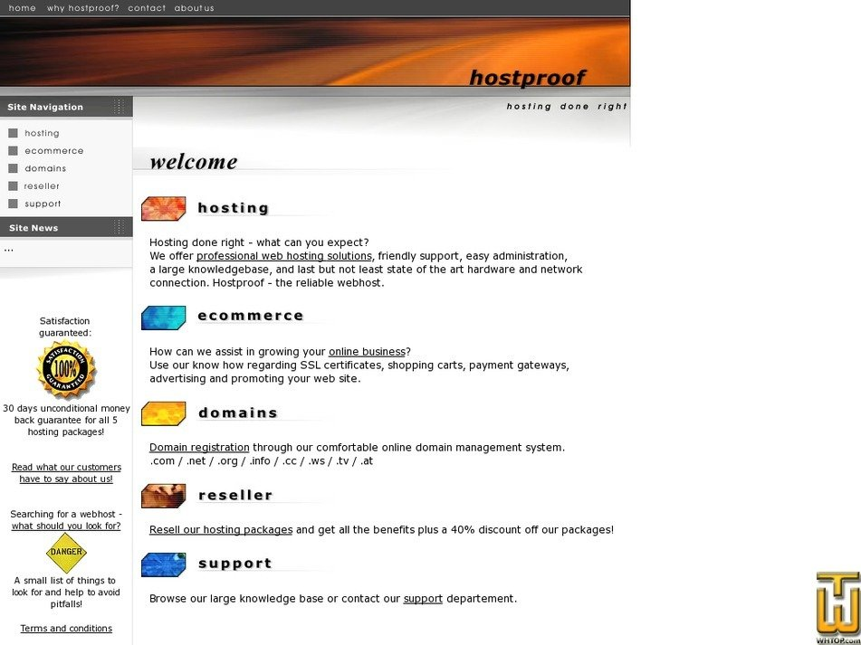 hostproof.com Screenshot