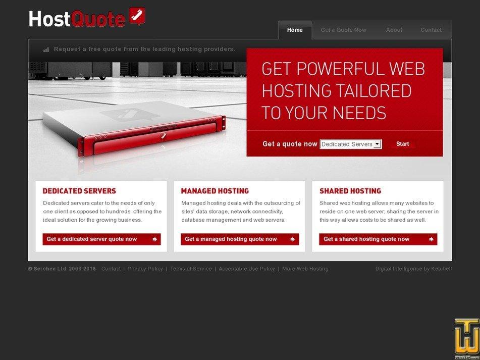 hostquote.com Screenshot