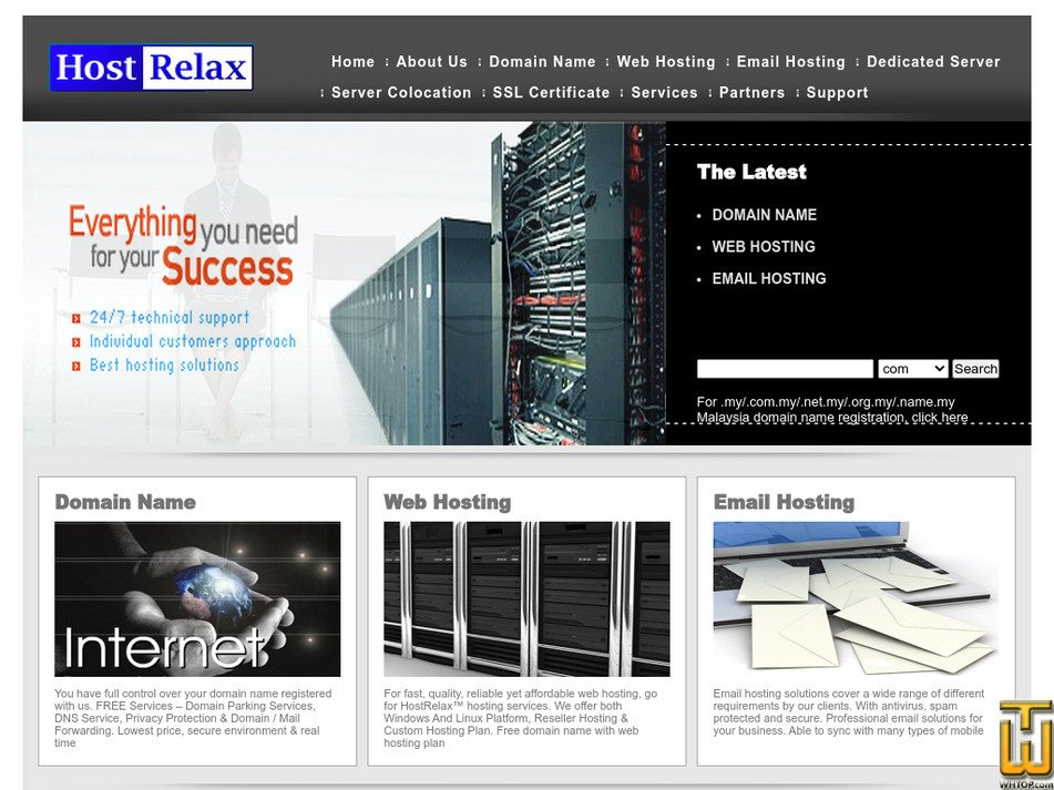 hostrelax.com Screenshot
