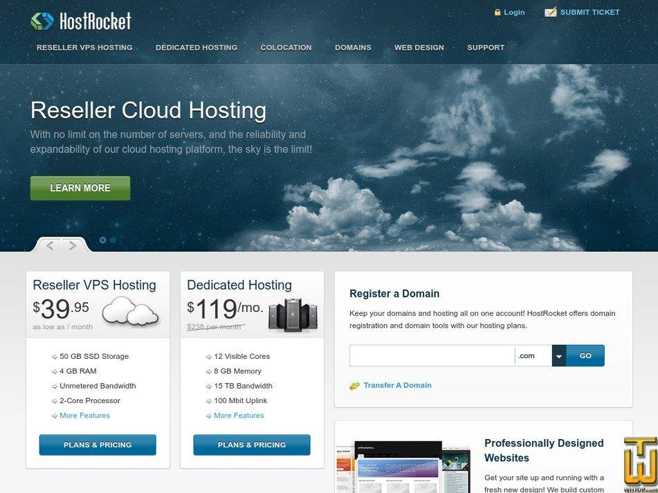hostrocket.com Screenshot