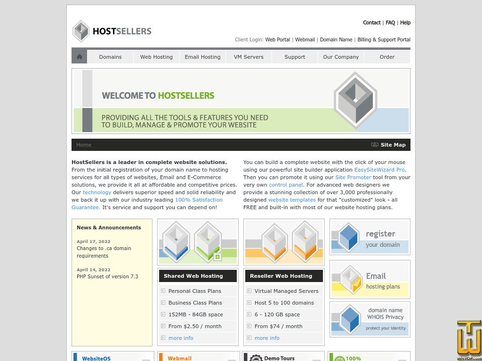 hostsellers.com Screenshot