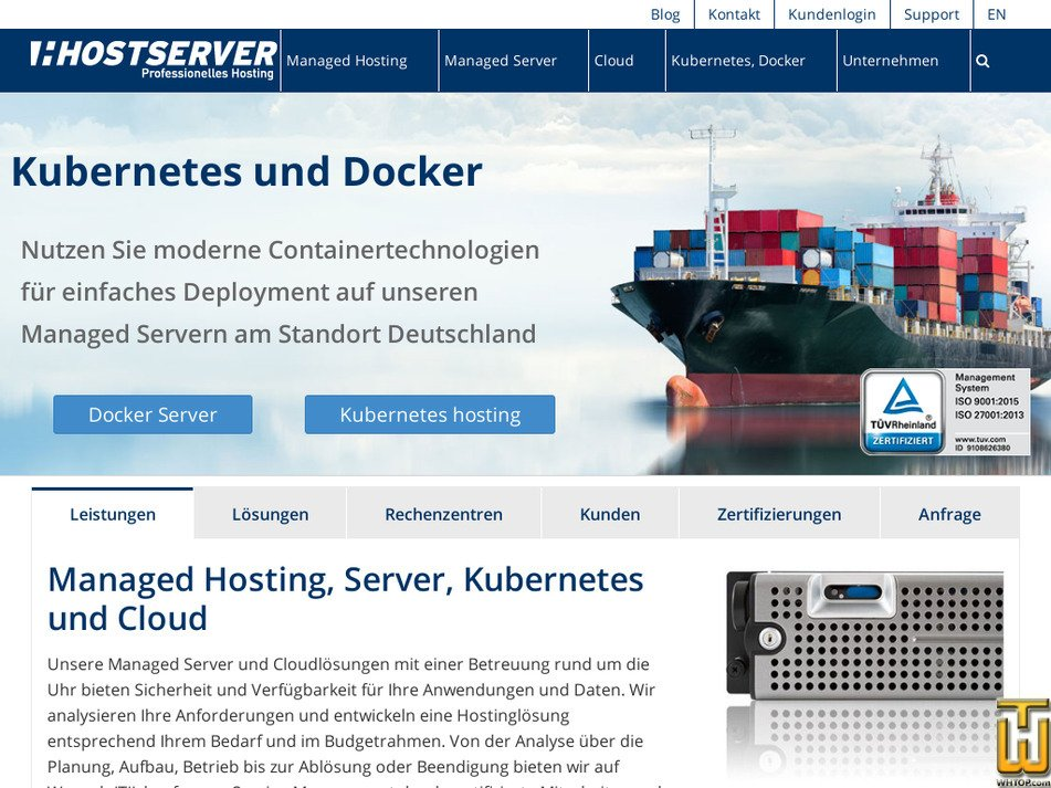 hostserver.de Screenshot