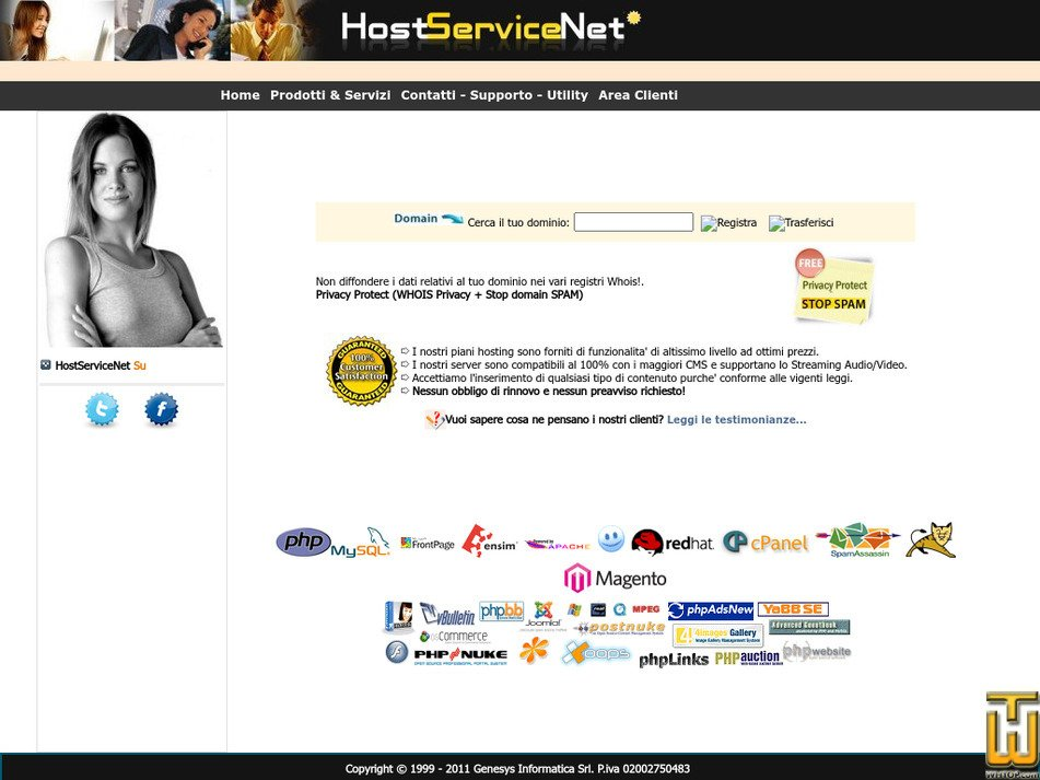 hostservicenet.com Screenshot