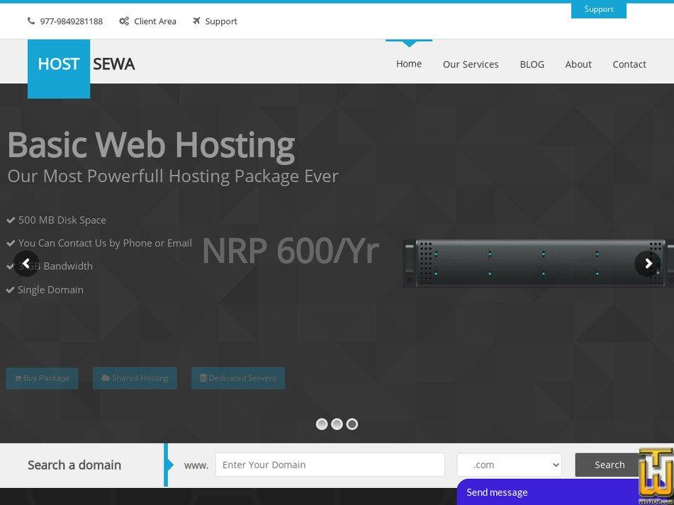hostsewa.com Screenshot