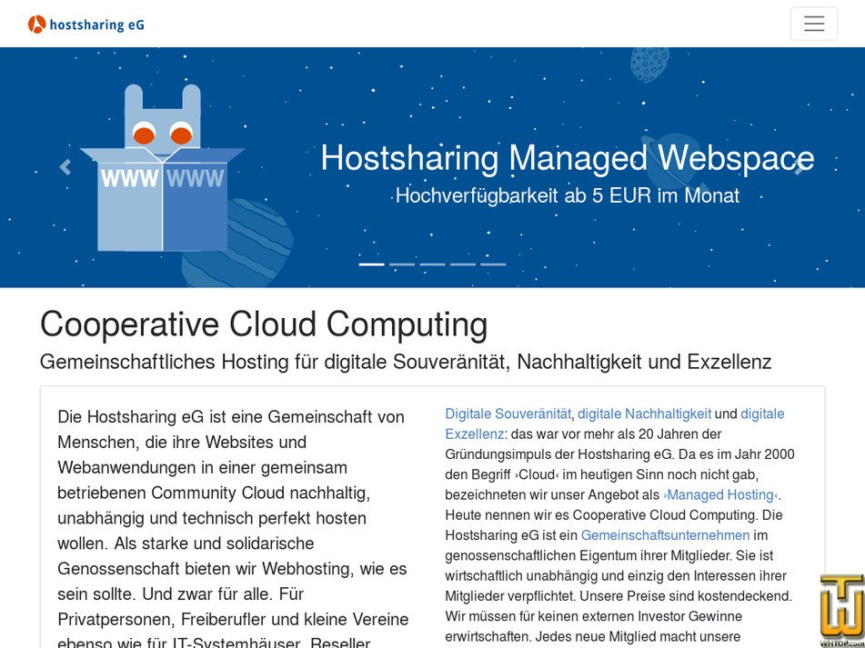 hostsharing.net Screenshot