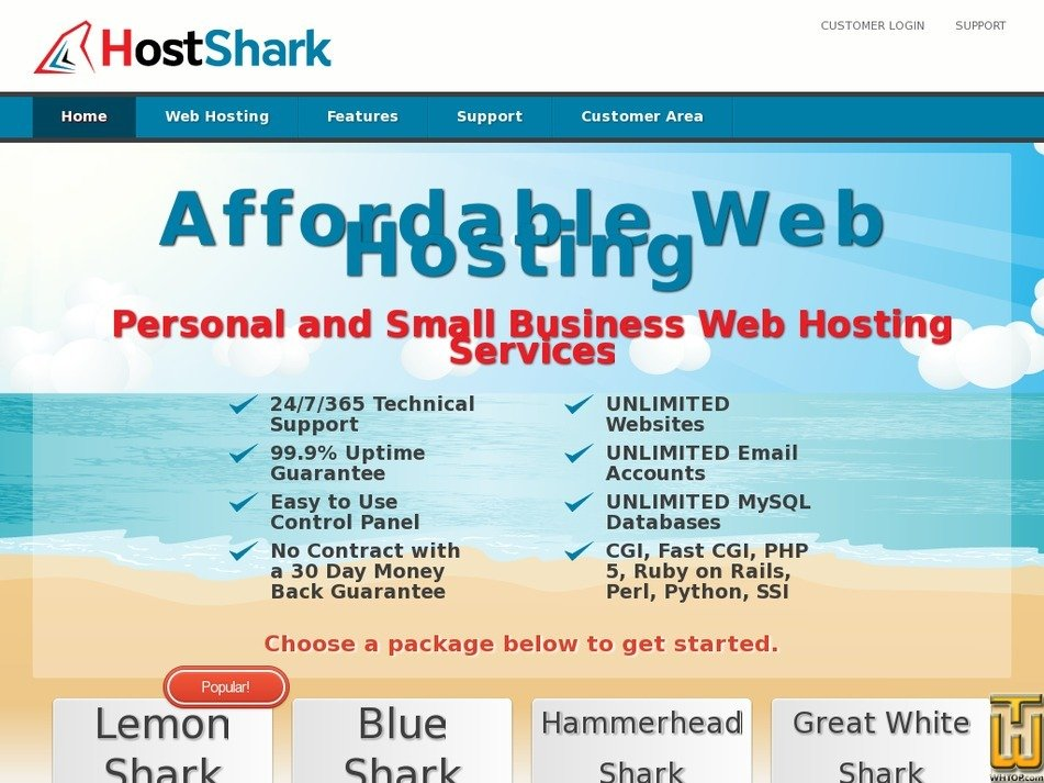 hostshark.co Screenshot