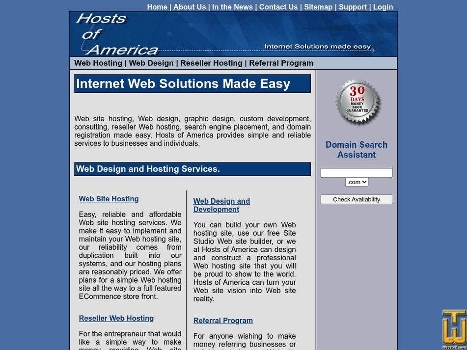 hostsofamerica.com Screenshot