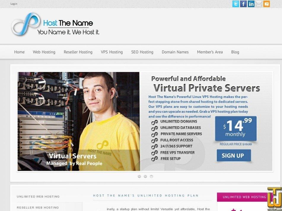hostthename.com Screenshot