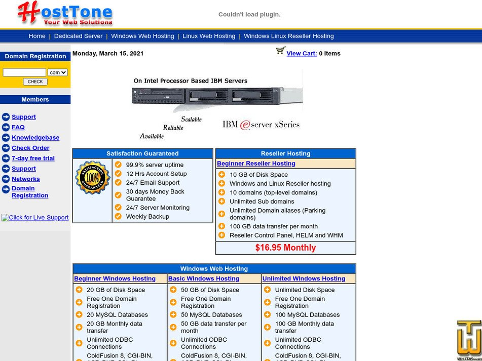 hosttone.com Screenshot