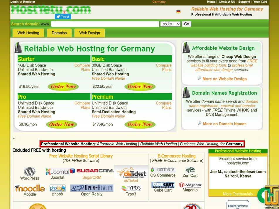 hostyetu.com Screenshot