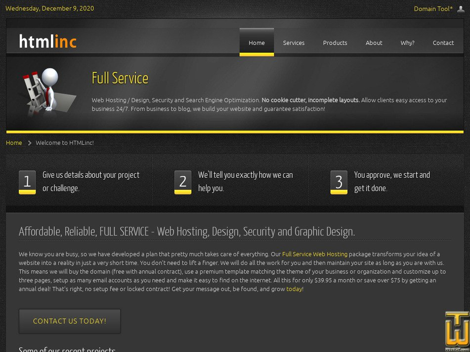 htmlinc.com Screenshot