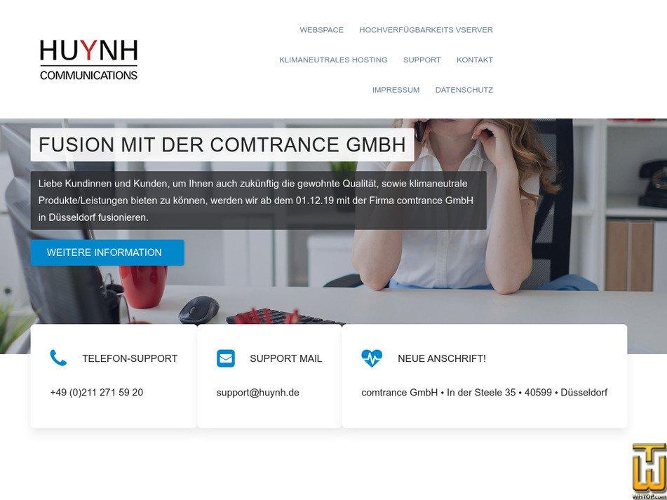 huynh.de Screenshot