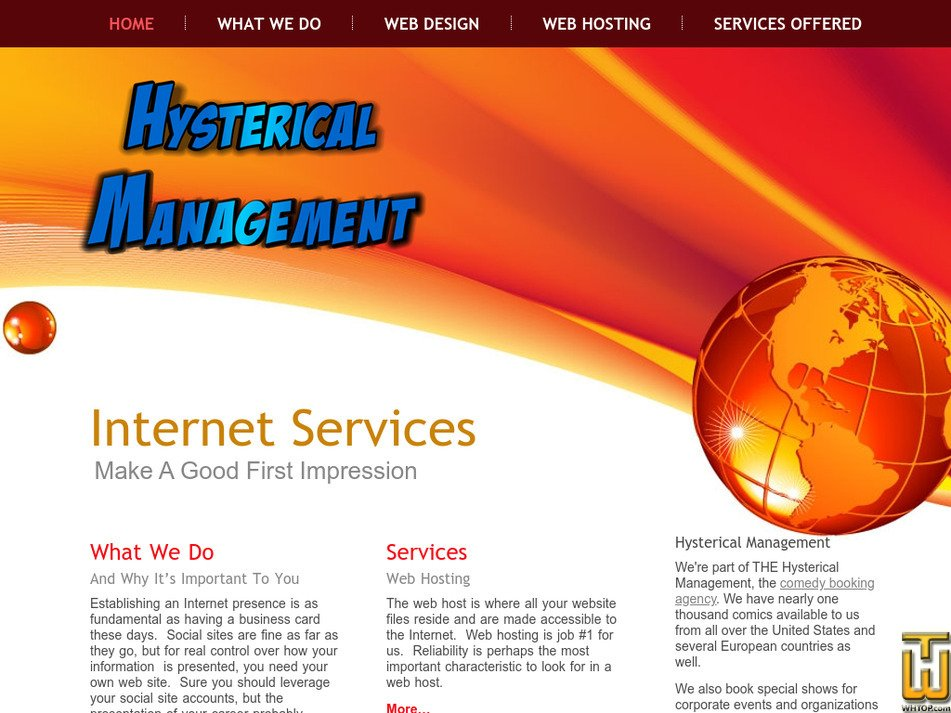 hystericalmanagement.com Screenshot