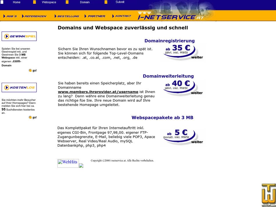 i-netservice.at Screenshot