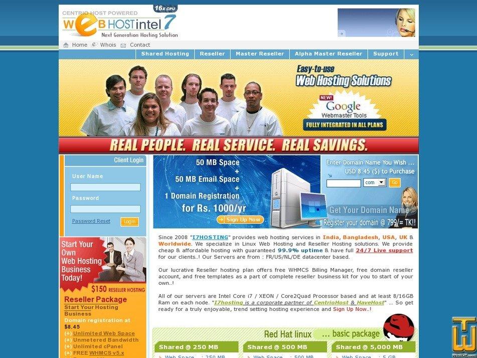 i7hosting.com Screenshot
