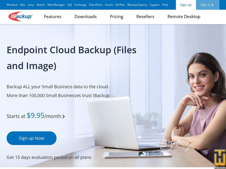 ibackup.com Screenshot