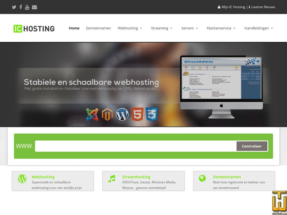 ic-hosting.nl Screenshot