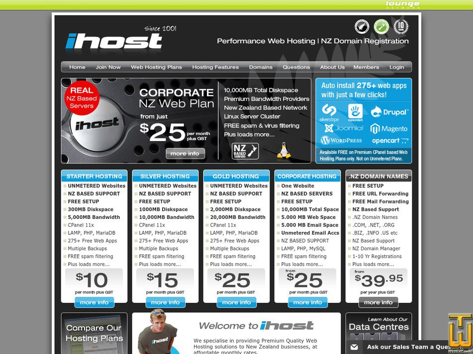 ihost.co.nz Screenshot