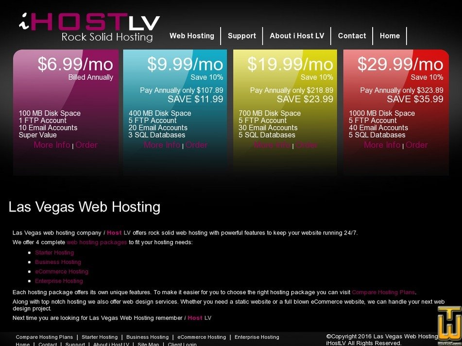 ihostlv.com Screenshot