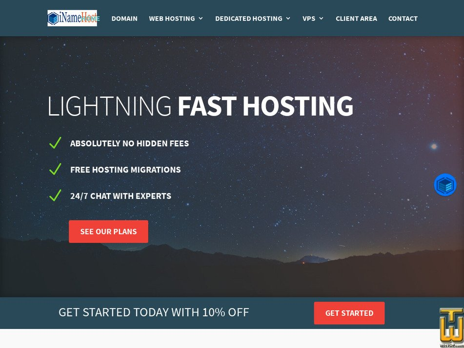 inamehost.com Screenshot