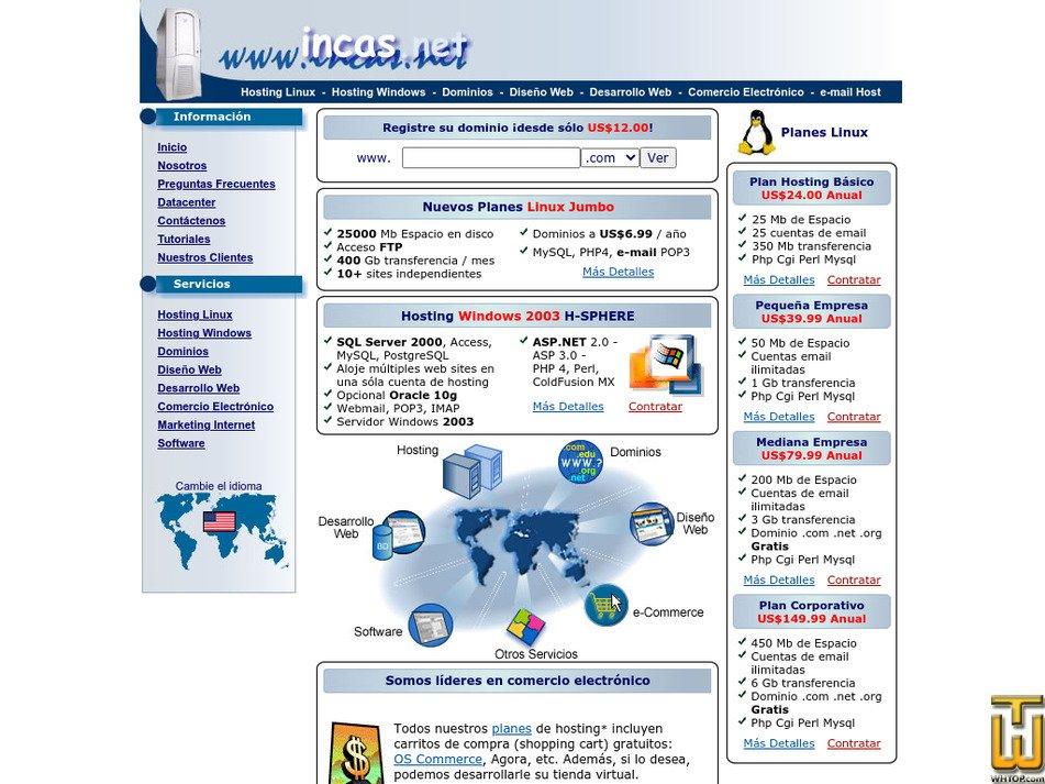incas.net Screenshot
