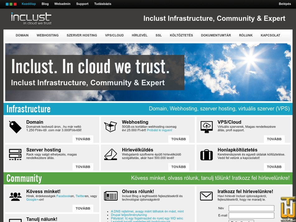 inclust.com Screenshot