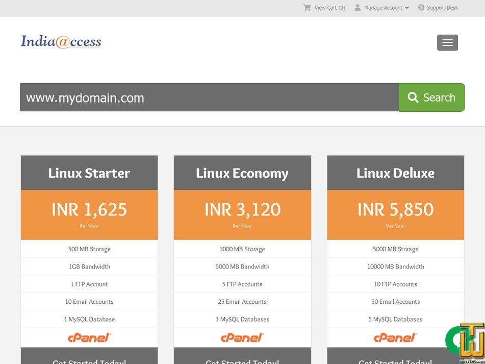 indiaaccess.com Screenshot