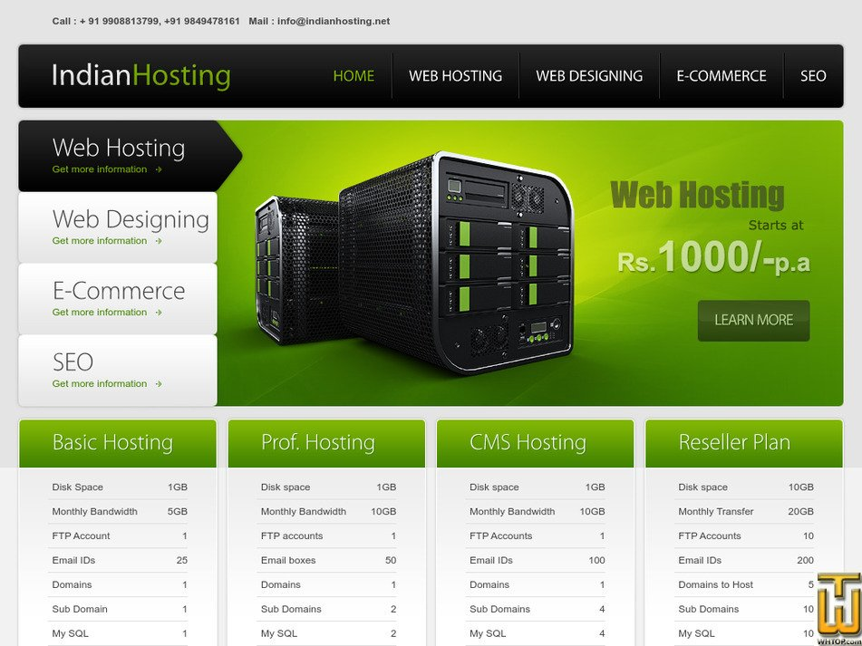 indianhosting.net Screenshot