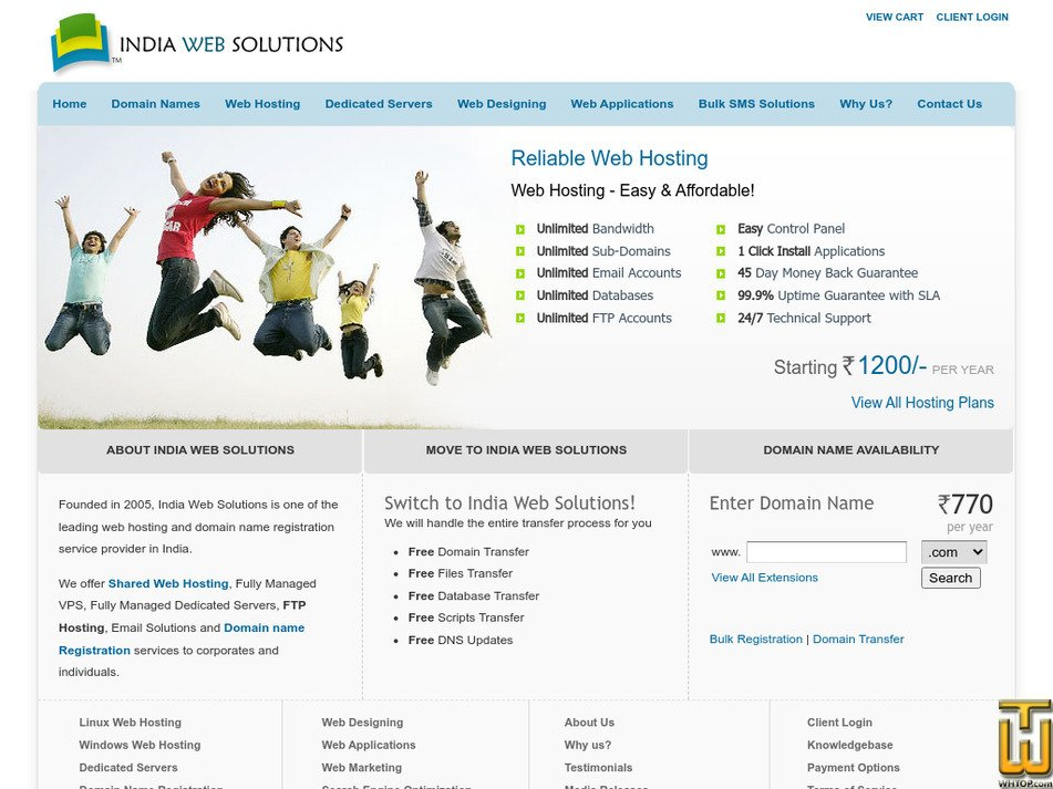indiawebsolutions.com Screenshot