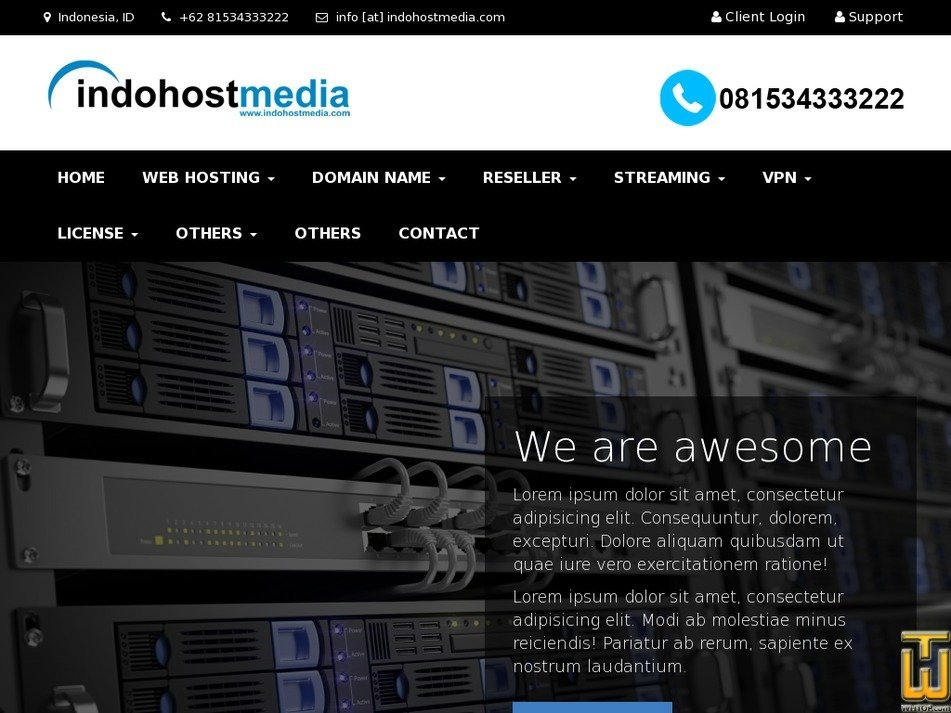 indohostmedia.com Screenshot