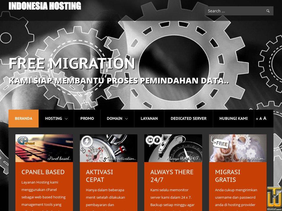 indonesia-hosting.com Screenshot